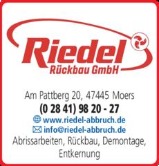 Anzeige Riedel Rückbau GmbH