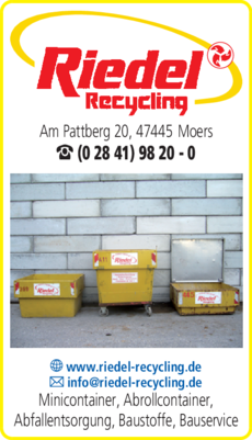 Anzeige Container Riedel Recycling GmbH