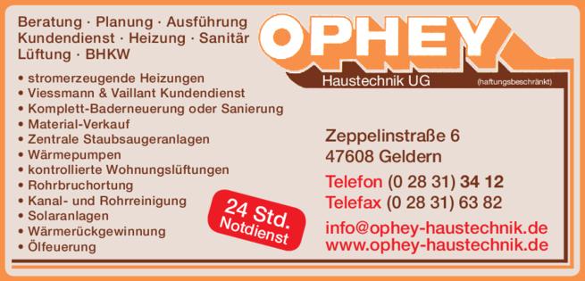 Anzeige Heizung Ophey Haustechnik UG