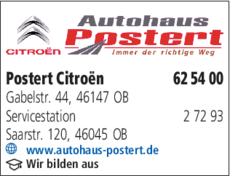 Anzeige Postert