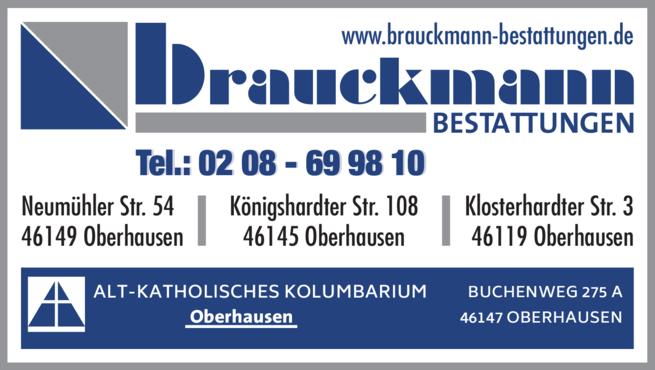 Anzeige Bestattungen Brauckmann