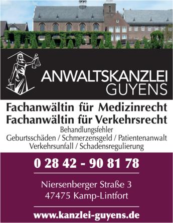 Anzeige Rechtsanwältin Guyens Birgit