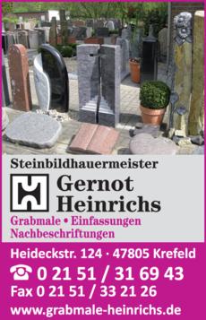 Anzeige Gernot Heinrichs