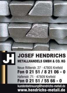 Anzeige Josef Hendrichs Metallhandels GmbH & Co. KG