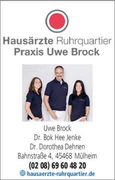 Anzeige Hausärzte Brock, Dr. Dehnen, Dr. Jenke