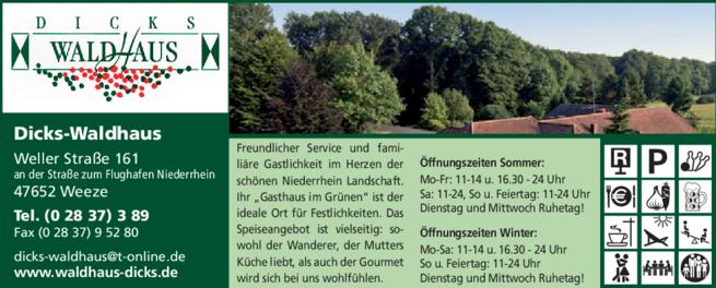 Anzeige Dicks-Waldhaus