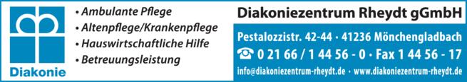 Anzeige Häusliche Pflege Diakoniezentrum Rheydt Ambulante Kranken- u. Altenpflege