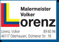Anzeige Malermeister Lorenz