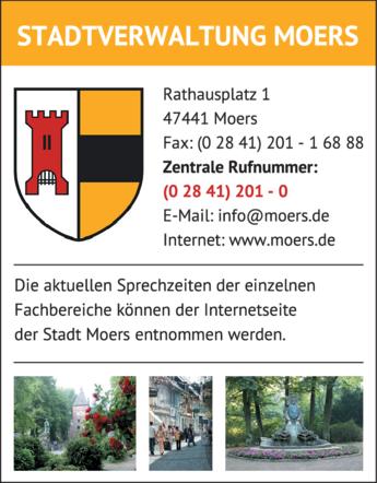 Anzeige Stadtverwaltung Moers