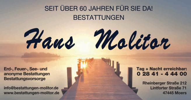Anzeige Beerdigung Molitor Hans