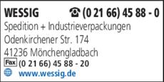 Anzeige WESSIG Spedition + Industrieverpackungen GmbH