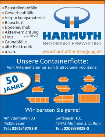 Anzeige Harmuth Entsorgung GmbH