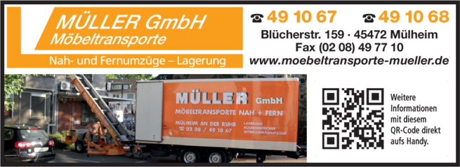 Anzeige Möbeltransporte Müller GmbH