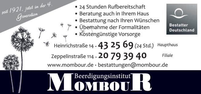 Anzeige Beerdigung Mombour