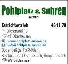 Anzeige Estrich Pohlplatz & Suhren GmbH