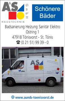 Anzeige A & S Haustechnik GmbH