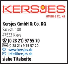 Anzeige Kersjes GmbH & Co. KG