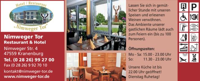 Anzeige Hotel Nimweger Tor
