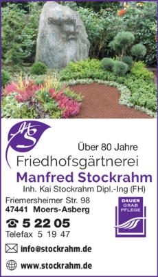 Anzeige Friedhofsgärtnerei Stockrahm Manfred Inh. Dipl.-Ing. (FH) Kai Stockrahm