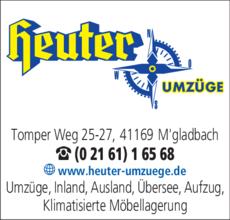 Anzeige Heuter Umzüge GmbH