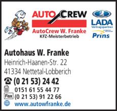Anzeige Franke Wulf