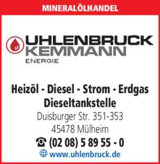 Anzeige Heizöl Esso-Mobil Uhlenbruck