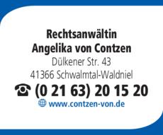 Anzeige Rechtsanwältin Contzen von. Angelika