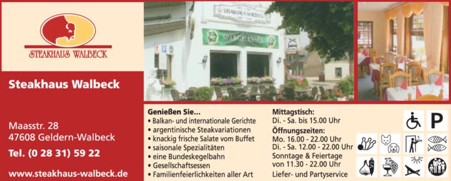 Anzeige Steakhaus Walbeck