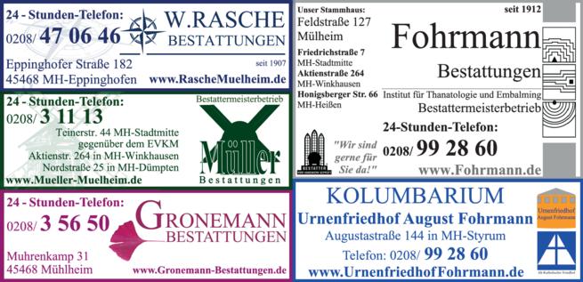 Anzeige Beerdigung Fohrmann