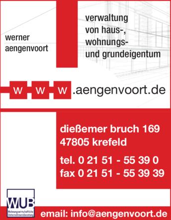 Anzeige Hausverwaltung Aengenvoort