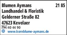 Anzeige Blumen Aymans