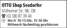 Anzeige Otto Shop Seedorfer