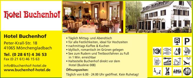 Anzeige Restaurant Hotel Buchenhof