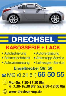 Anzeige Autolackiererei Drechsel GmbH & Co. KG