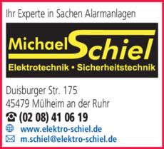 Anzeige Elektroinstallation Schiel Michael