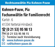 Anzeige Rechtsanwältin Pia Kohnen-Pauw