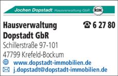 Anzeige Hausverwaltung Dopstadt GbR