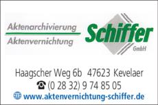 Anzeige Aktenvernichtung Schiffer GmbH
