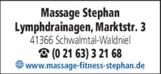 Anzeige Massage Stephan