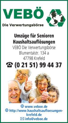 Anzeige Umzüge für Senioren VEBÖ
