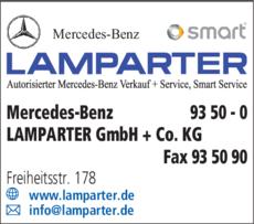 Anzeige Mercedes-Benz LAMPARTER GmbH + Co. KG