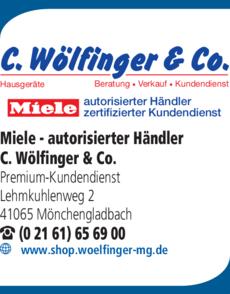 Anzeige Miele - autorisierter Händler C. Wölfinger & Co.