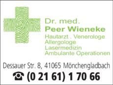 Anzeige Wieneke Peer Dr.med.