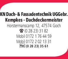 Anzeige KN Dach- & Fassadentechnik UG Gebr. Kempkes