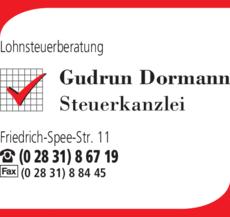 Anzeige Lohnsteuerberatung Dormann
