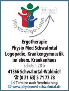 Anzeige Ergotherapie Physio Med