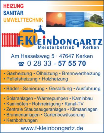 Anzeige Heizung Kleinbongartz
