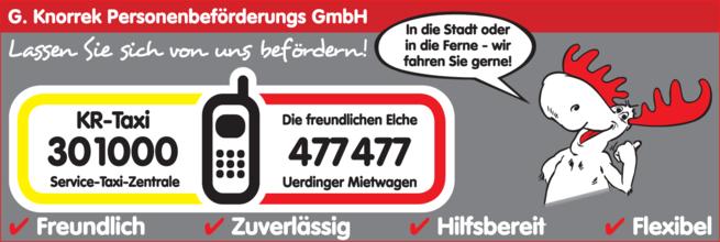 Anzeige Taxi Knorrek G. Personenbeförderungs GmbH