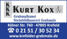 Anzeige Kox Kurt