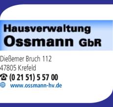 Anzeige Ossmann GbR